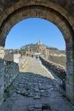 Tsarevets,中世纪堡垒 库存照片