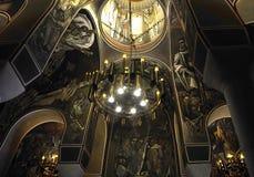 Tsarevets从大特尔诺沃的堡垒内部家长式教会在保加利亚 免版税图库摄影