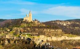 Tsarevets fortress and Patriarch church in Veliko Tarnovo, Bulgaria Stock Photo