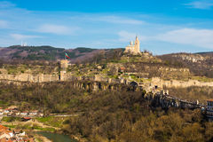 Tsarevets fortress and Patriarch church in Veliko Tarnovo, Bulgaria Royalty Free Stock Image