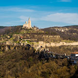 Tsarevets fortress and Patriarch church in Veliko Tarnovo, Bulgaria Royalty Free Stock Photos