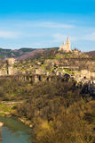 Tsarevets fortress and Patriarch church in Veliko Tarnovo, Bulgaria Royalty Free Stock Photo