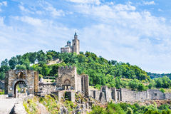 Tsarevets fortress and the Patriarchal church in Veliko Tarnovo, Bulgaria. Stock Image