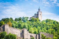 Tsarevets fortress and the Patriarchal church in Veliko Tarnovo, Bulgaria. Stock Photo