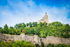 Tsarevets fortress and the Patriarchal church in Veliko Tarnovo, Bulgaria. Royalty Free Stock Images