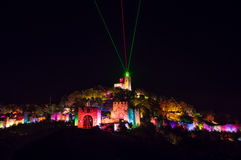 Tsarevets fortress - Sound and light show Stock Images