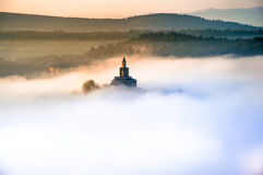 Tsarevets fortress at sunrise Stock Photography