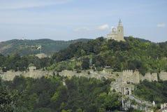 Tsarevets fortress in veliko tarnovo bulgaria. Tsarevets castle fortress in veliko tarnovo bulgaria Stock Photography