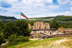 Tsarevets Fortress in Veliko Tarnovo, famous town crossed by Yantra River and known as t royalty free stock photography