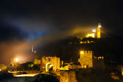 Tsarevets Hill by night , Veliko Tarnovo, Bulgaria Stock Image
