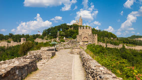Tsarevets Panorama. Panoramic view of the Tsarevets Fortress in Veliko Turnovo, Bulgaria Royalty Free Stock Images