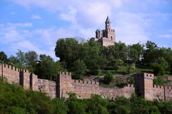 Tsarevets Stronghold in the Spring Royalty Free Stock Photo