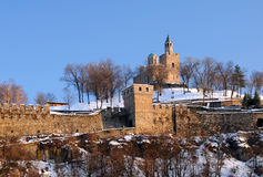 Tsarevets Stronghold in the Winter Stock Photo
