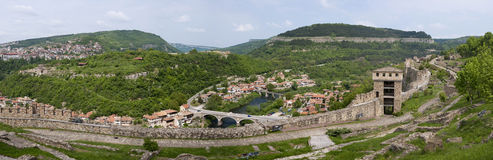 Tsarevets, Veliko Tarnovo, Bulgaria.Panorama Stockfotografie