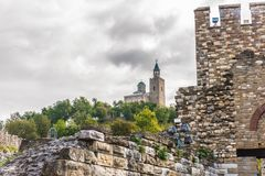 Tsarevets, Veliko Tarnovo, Bulgaria. Tsarevets is a medieval stronghold located on a hill with the same name in Veliko Tarnovo in northern Bulgaria. It served as royalty free stock photography