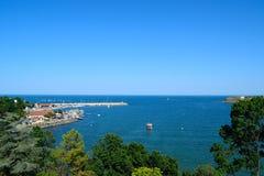 Tsarevo bay. A photo of the bay of Tsarevo with its port Royalty Free Stock Photo