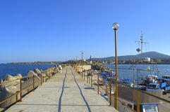 Tsarevo breakwater view,Bulgaria Royalty Free Stock Photography
