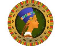 Tsarina av Egypten Nefertiti vektor illustrationer