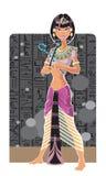 Tsarina de Egipto ilustração stock