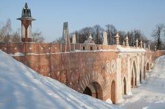 tsaritsino της Μόσχας γεφυρών Στοκ Εικόνες
