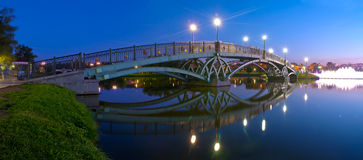 Tsaritsino bridge at night. Panorama of Moscow Estate, Russia Royalty Free Stock Images