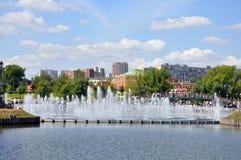 Tsaritsino Museum und Park Brunnen Stockfotos