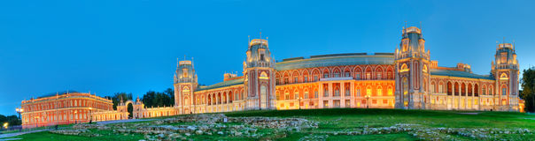 Tsaritsino Palace  at night Royalty Free Stock Image