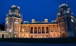 Tsaritsino-Palast nachts. Moskau, Russland Stockbilder