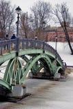 Tsaritsyno公园建筑学在莫斯科 在桥梁的人步行 图库摄影