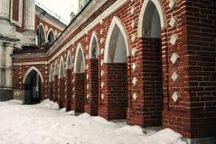Tsaritsyno公园建筑学在莫斯科 免版税库存图片