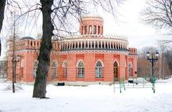 Tsaritsyno公园看法在莫斯科在冬天 库存图片