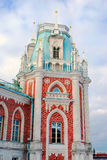 Tsaritsyno公园看法在莫斯科 大宫殿 免版税图库摄影