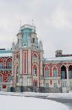 Tsaritsyno公园看法在莫斯科 故宫博物院 免版税库存图片