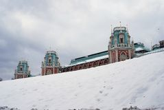 Tsaritsyno公园看法在莫斯科 故宫博物院 免版税图库摄影
