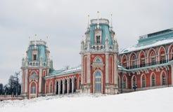 Tsaritsyno公园看法在莫斯科 盛大宫殿博物馆 免版税图库摄影