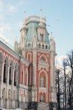 Tsaritsyno公园看法在莫斯科 盛大宫殿博物馆 免版税库存照片