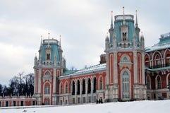 Tsaritsyno公园看法在莫斯科 盛大宫殿博物馆 免版税库存图片