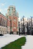 Tsaritsyno公园看法在莫斯科 盛大宫殿博物馆 库存照片