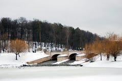 Tsaritsyno公园看法在莫斯科 库存图片