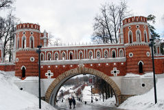 Tsaritsyno公园看法在莫斯科 免版税图库摄影