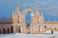 Tsaritsyno公园看法在莫斯科 免版税库存照片