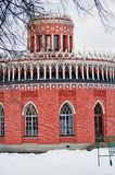 Tsaritsyno公园看法在莫斯科 库存照片