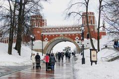 Tsaritsyno公园看法在莫斯科 免版税库存图片