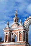 Tsaritsyno公园老建筑学在莫斯科 库存照片