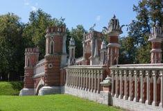 Tsaritsyno公园,莫斯科 图库摄影