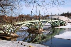Tsaritsyno公园建筑学在莫斯科 彩色照片 免版税库存照片