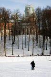 Tsaritsyno公园建筑学在莫斯科 彩色照片 免版税库存图片