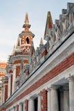 Tsaritsyno公园建筑学在莫斯科 彩色照片 库存图片