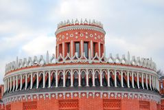 Tsaritsyno公园建筑学在莫斯科 库存照片