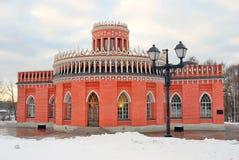 Tsaritsyno公园建筑学在莫斯科 免版税图库摄影
